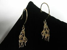 FLAME EARRINGS BY MOTORHEAD JEWELRY 14K YELLOW GOLD (4.3G Total Weight)