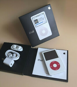 New- Apple iPod Classic Video 5th Generation U2 Special Edition White/Red (30GB)