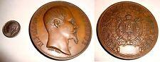1855 PARIS Exposition BRONZE Medal NAPOLEON III 133 gram 59.7 mm