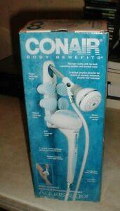 New CONAIR Pollenex Aquassager Hand Held Water Shower Head Massage Wand