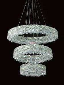 French Empire Modern Luxury Crystal Chandelier Pendant Light Fixture US Seller