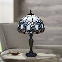 """Antique Design Tiffany Lamp Table Bedside Handcrafted 10"""" inch Shade Home Decor"""