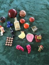 Vintage Lot 18 Refrigerator Magnetics Grapes Coke Basketball Fruit Pans
