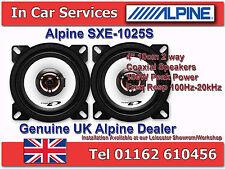 """Alpine SXE-1025S 4"""" (10cm) DIN ajuste personalizado 2-Way coaxial altavoces del coche 180W Par"""