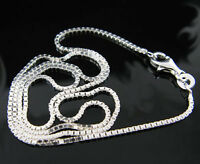 Fashion 16-30inch 925 Solid Sterling Silver Necklace Chain Women Men Multi Style
