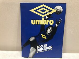 Vintage UMBRO Wall Poster SOCCER EDUCATION ptr