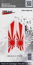 Aufkleber 3D Länder-Flaggen Rising Sun 2 Stck. je 100 x 20 mm - 300649
