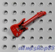 LEGO - Red Electric Guitar 'ML' Type - Minifigure Rock Star Band Instrument City