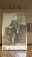 Vintage Cabinet Card Photograph-Young Boy with Pocket Watch-134-J36