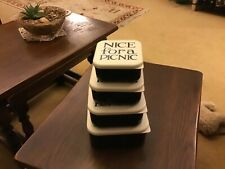 Emma Bridgewater  Snack Boxes, 4, stackable, melamine, Black Toast
