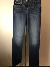 7 for all mankind Woman's Kimmie Straight Leg Medium Wash Jeans Size 25