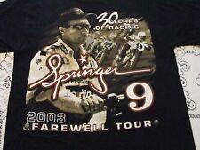 JAY SPRINGER #9 SPRINGSTEEN 2003 SIGNED T-SHIRT-MD HARLEY DAVIDSON TEAM RACER