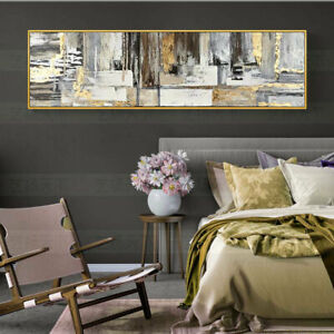 """HH103 Wall decor Huge abstract canvas oil painting Hand-painted Unframed 24""""x72"""""""