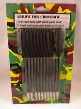 "12 Crossbow Arrow Bolts Darts 6.5"" For Pistol Hand Gun Cross Bow 50lb - 80lb New"