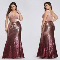 US Ever-Pretty Plus Size Women Long Mermaid Gown Celebrity Evening Party Dresses