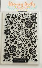 DOVECRAFT A6 EMBOSSING FOLDER - DCEMB006 - FLORAL FLOWERS - BLOOMING LOVELY
