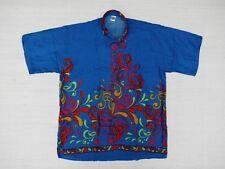 Hawaiin Shirt Hawaii Hawai Shirt Sale Blue Ornamented Yellow Magenta
