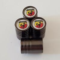 FIAT ABARTH Titanium Grey valve Tyre Dust Caps 8 COLORS 595 500 695 SPIDER