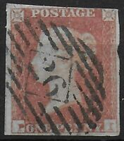 SG8  1841-1d.Red-Brown (P-I). Probably Plate 96. 'P' Misplaced To Right. Ref:052