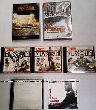 MUSSOLINI STORIA DEL FASCISMO 2^ GUERRA MONDIALE grande lotto 4CDROM+2DVD+21VHS