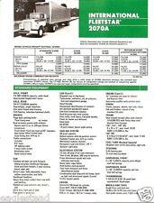 Truck Brochure - International - F-2070A - Fleetstar - 1974 - Green (TB224)