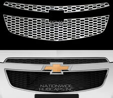 CHROME 11-14 Chevy Cruze Snap On Grille Overlay Front Grill Inserts Trim Covers