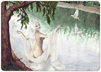 Gothic Fantasy Art ACEO PRINT doves shaman tree fairy