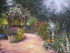 Matted Rose Garden Foil Art Print~8x10 Affordable Floral Art