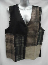 BNWT Ladies Sz 10 to 12 Bublee Brand Smart Tartan Knit Fully Lined Vest RRP $40