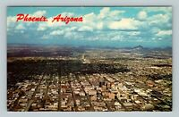 Phoenix AZ, Aerial View, Metropolitan Area, Mountains, Chrome Arizona Postcard