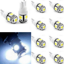 10PC Cool White T10 Wedge 5050 5SMD LED 168 194 2450 2825 license interior light
