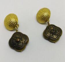 Vintage Signed GJD  clip on earrings