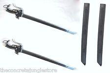"2 x Carbon Steel Attack on Titans Shingeki Kyojin Anime Swords 38"""
