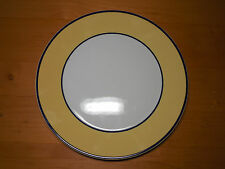 """Pagnossin Italy SPA YELLOW COUPE Dinner Plate 10 5/8"""" Treviso Blue Bands 1 ea"""