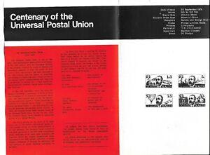 "MALTA/1974MAY VINTAGE BULLETIN NO 7""CENTENARY UNIVERSAL POSTAL UNION AS PER SCAN"