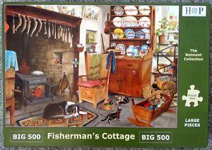 "HOP Big 500 piece ""Fisherman's Cottage"" - Complete"