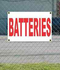 2x3 BATTERIES Red & White Banner Sign NEW Discount Size & Price FREE SHIP