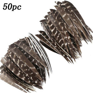 Details about  /36Pcs 4Inch Sting Fletches Feather Fletching Striped One Side Feathers
