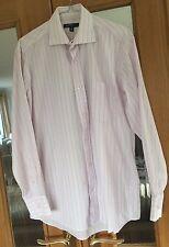 "Mens Light Pink Striped Shirt Size 15"""