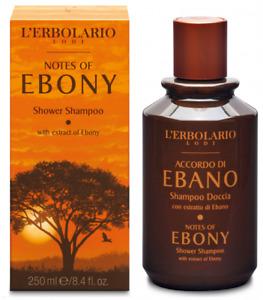 L'Erbolario Notes Of Ebony Shower Shampoo Scent Citrus And Woody 250ml