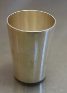 Vtg 835 Silver Small Cup 1 5/8 Inches 7 Grams Monogrammed FG Shot Glass 1 Oz