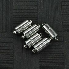 5 Pcs Stainless steel Cylinder Magnetic Clasp Buckle Connectors For DIY Bracelet