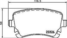 Pagid T1410 Brake Pad Set REAR for Audi A4 A6 VW Transporter