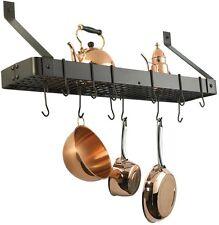 Kitchen Rack Pot Pan Hanging Organizer Holder Storage Wall Mount Cookware Hooks