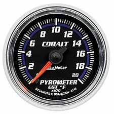Auto Meter 6145 Cobalt Full Sweep Electric EGT Pyrometer Gauge 0-2000 Degrees