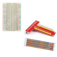 T Type GPIO Extension Board + 40Pin Cable + Breadboard Kit For Raspberry Pi B+