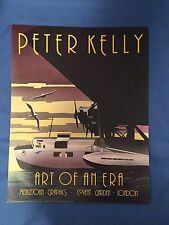 Vintage Art Deco Peter Kelly Poster Art of an Era Flying Boat London 1983 RARE
