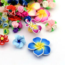 200g Handmade 3D Polymer Clay Flower Beads Colorful Loose Craft Beads 12~40mm