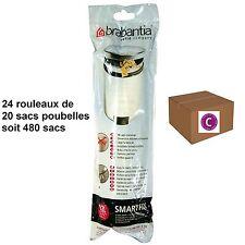 """BRABANTIA LOT 480 SACS POUBELLES  """"C""""   pour poubelle 12 litres"""