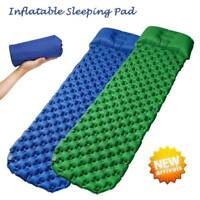 Ultralight Inflatable Air Mattress Sleeping Pad Outdoor Bed Camping Mat Roll Up